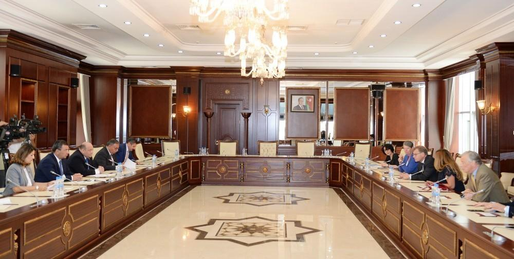 Almaniya Bundestaqının deputatları Azərbaycan parlamentində görüş keçiriblər