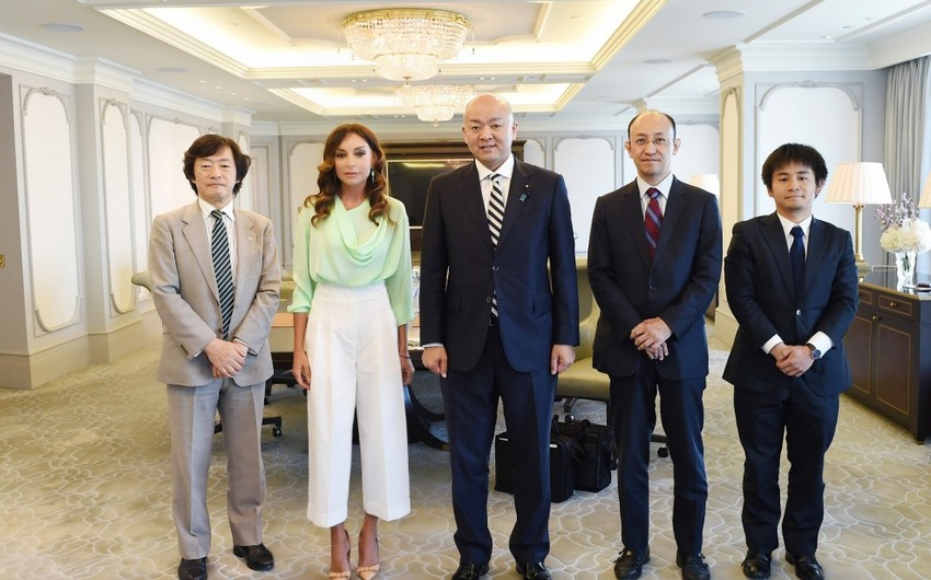 First Vice President Mehriban Aliyeva meets with Japan's Parliamentary Vice-Minister for Foreign Affairs