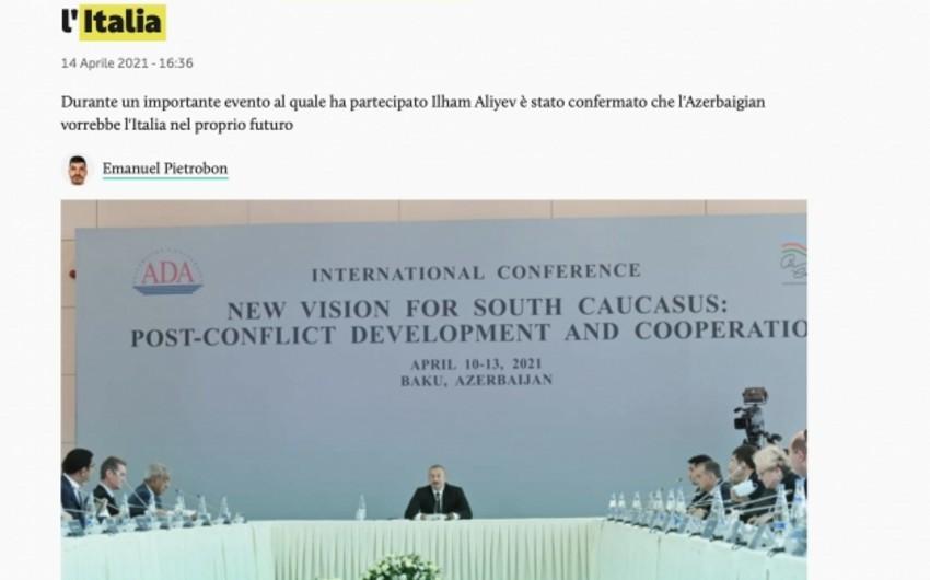 Prezident İlham Əliyevin fikirləri İtaliya mətbuatında