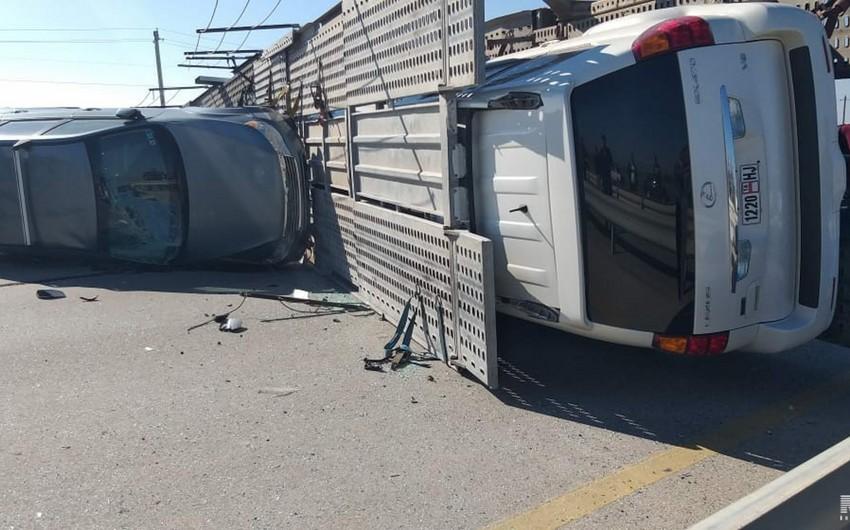 В Азербайджане пьяный гражданин Кыргызстана совершил аварию - ВИДЕО - ОБНОВЛЕНО