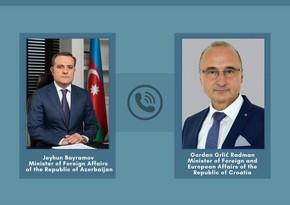 Состоялся телефонный разговор между главами МИД Азербайджана и Хорватии