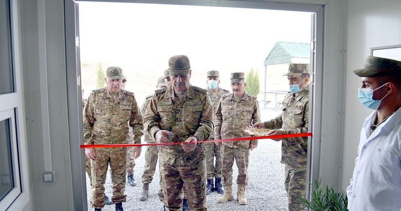 Azad olunan rayonlarda yeni inşa edilən hərbi obyektlər istifadəyə verilib