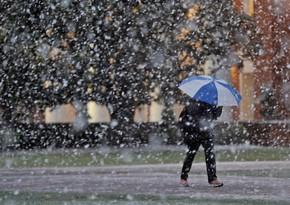 В Баку пойдет мокрый снег