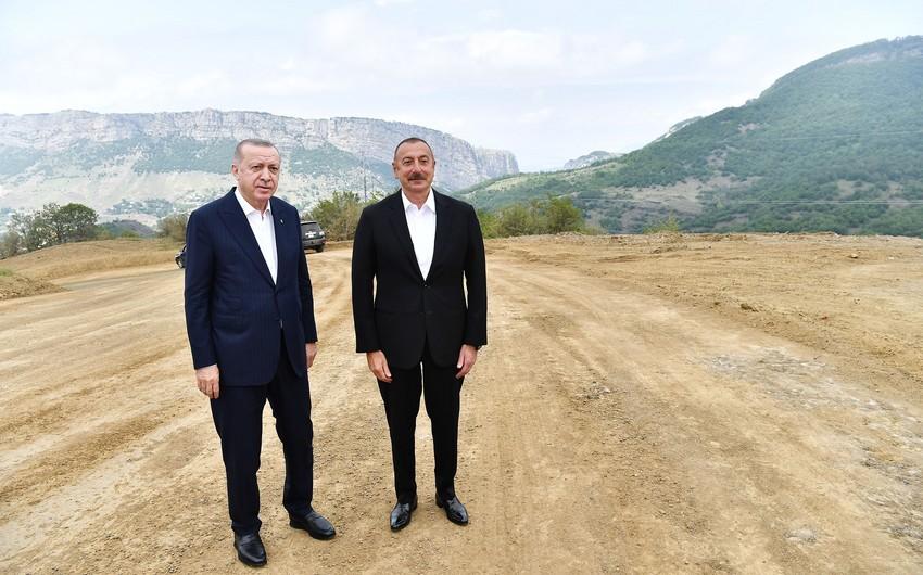 Ilham Aliyev welcomes Recep Tayyip Erdogan in Fuzuli
