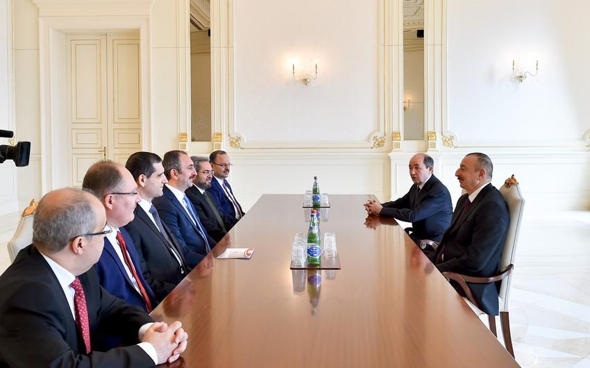 Prezident İlham Əliyev Türkiyənin ədliyyə nazirini qəbul edib