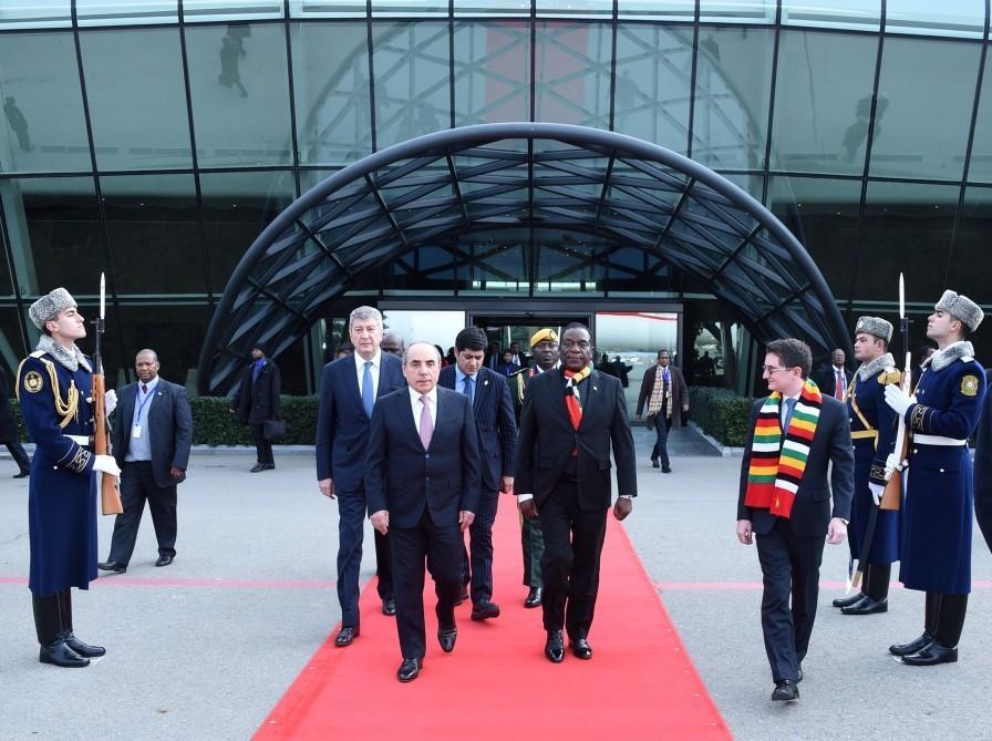 Zimbabwean President Emmerson Mnangagwa ends working visit to Azerbaijan