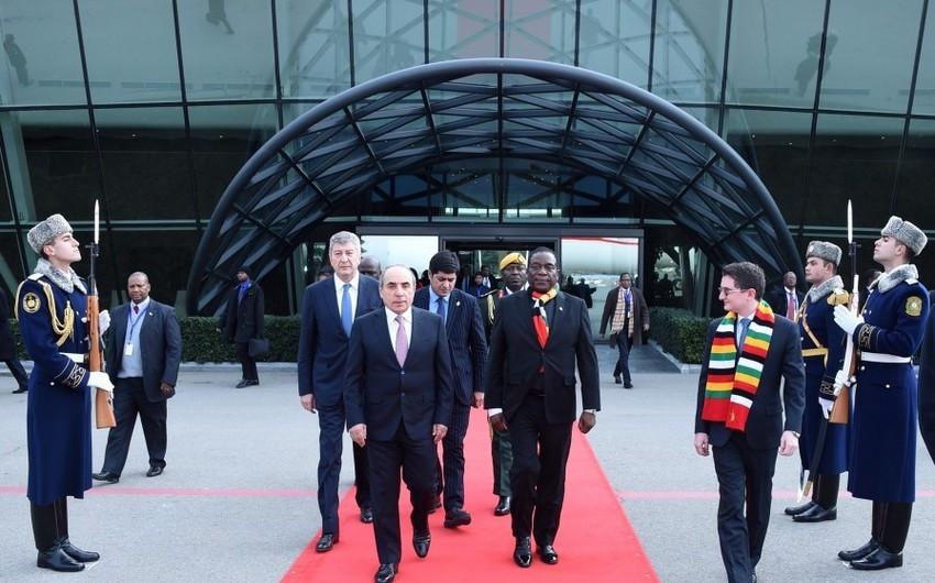 Zimbabve Prezidentinin Azərbaycana səfəri başa çatıb