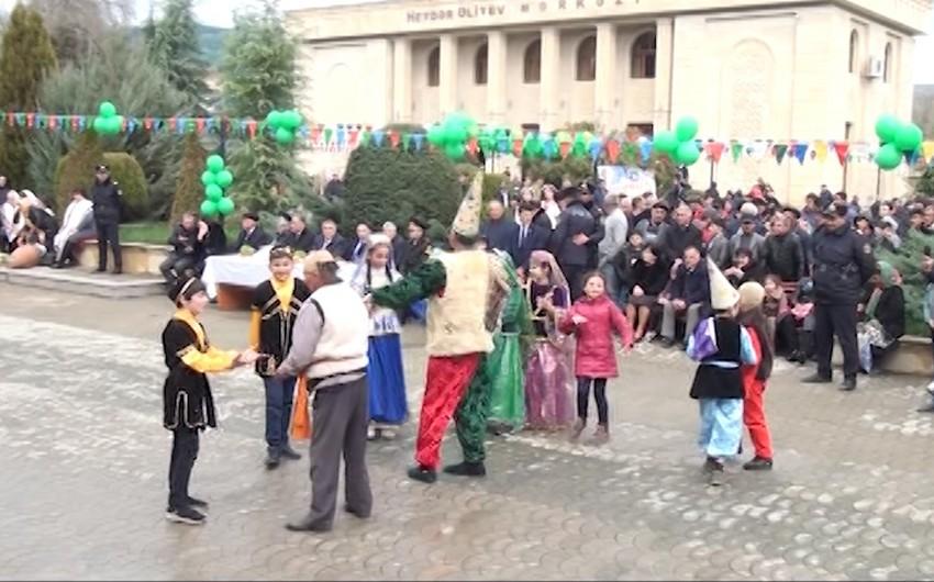 Ağsuda Novruz şənliyi keçirilib - VİDEO