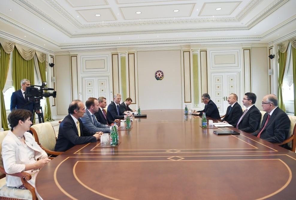 Президент Ильхам Алиев принял делегацию Европейской комиссии