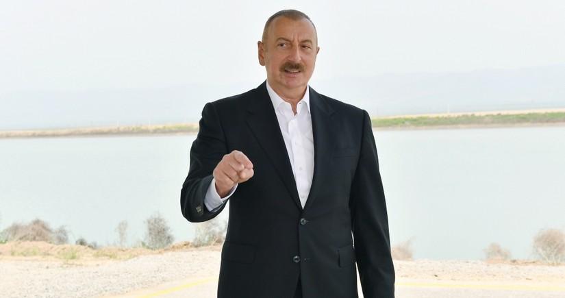 Ильхам Алиев: Наши планы заключаются в том, чтобы подать на Армению в международные суды