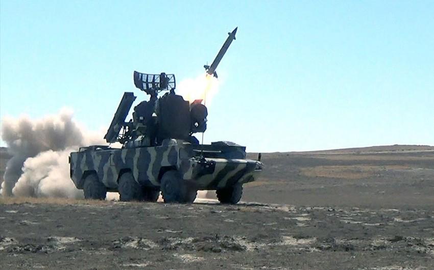 Hava hücumundan müdafiə vasitələri döyüş atışları icra edib - VİDEO