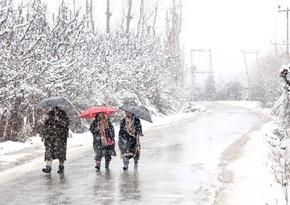 Завтра в Азербайджане пойдет снег, вероятна метель