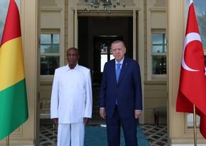Ərdoğan Qvineya Prezidenti ilə görüşüb