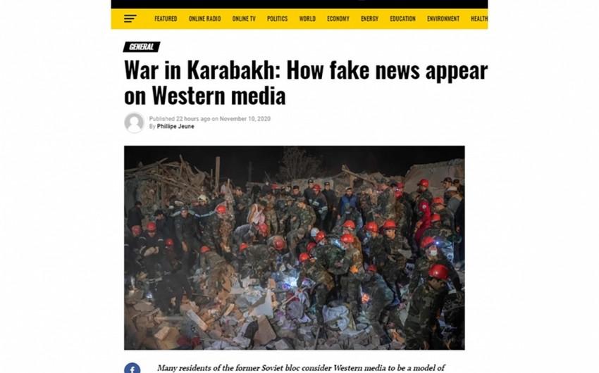 """""""EU Reporter"""": Qarabağ müharibəsi: Qərb mediasında feyk xəbərlər necə yayılır"""