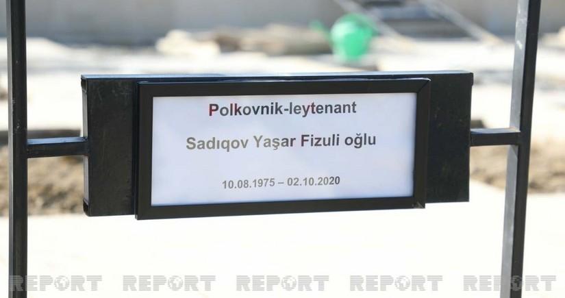 Şəhid polkovnik-leytenant dəfn edildi