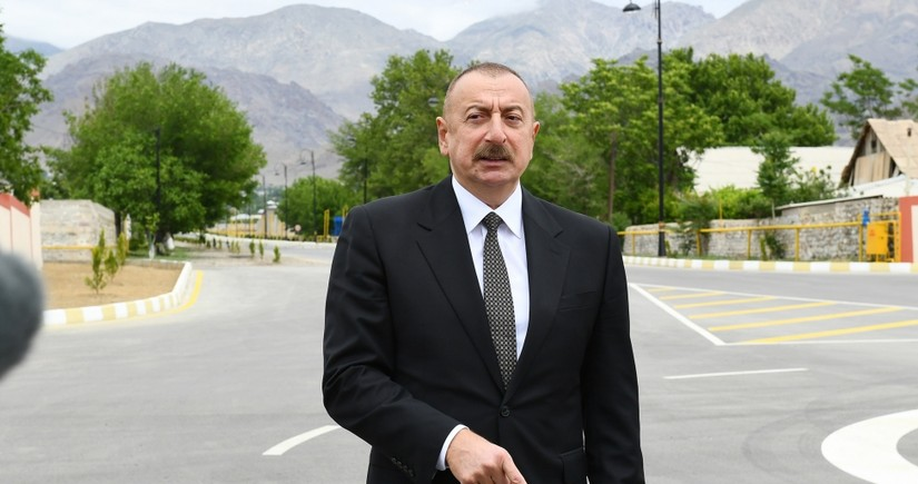 Ilham Aliyev: There is no territorial unit called Nagorno-Karabakh in Azerbaijan