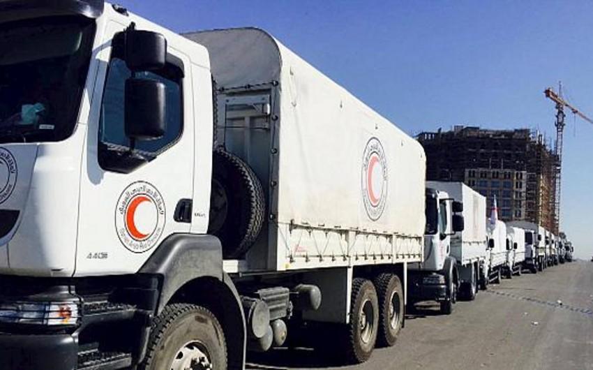 Suriyanın mühasirədə olan dörd rayonuna humanitar yardım çatdırılıb