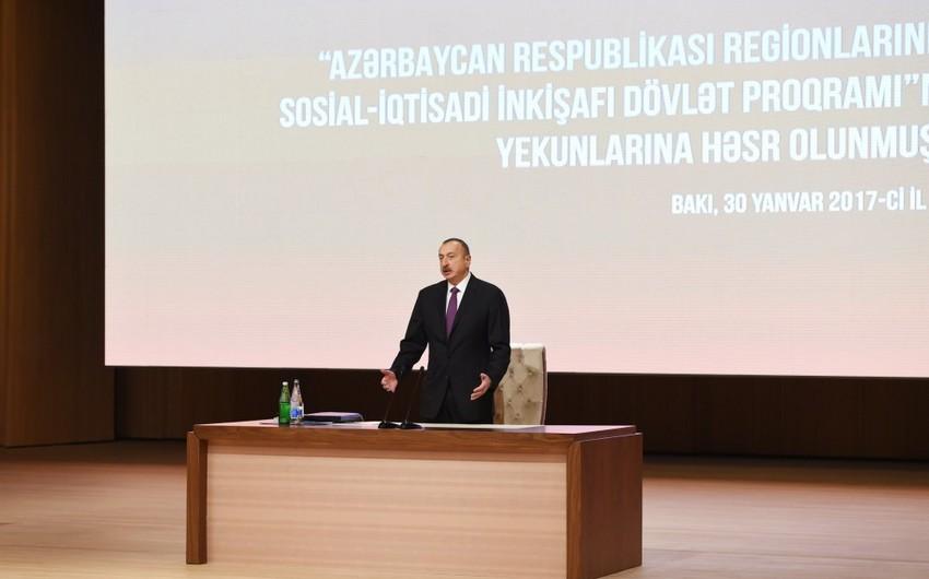 """Prezident: """"Məqsədimiz ondan ibarətdir ki, Azərbaycan vətəndaşı daha da yaxşı yaşasın"""""""
