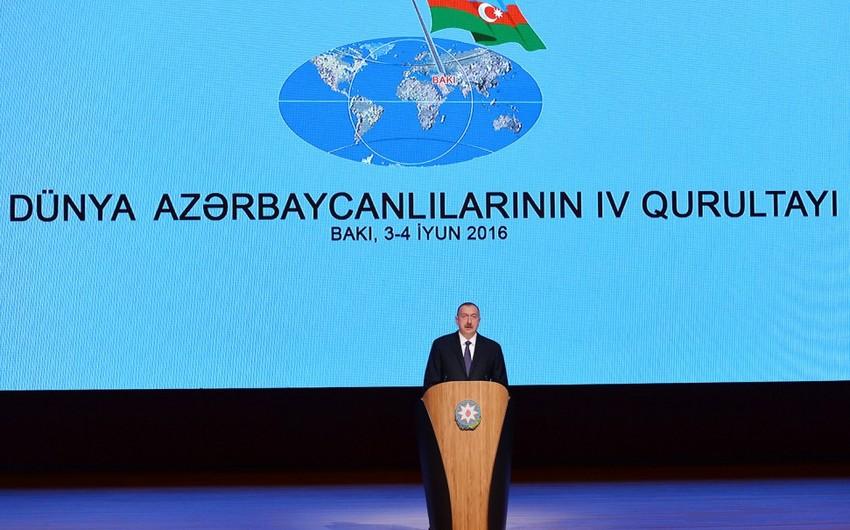 Prezident İlham Əliyev Dünya Azərbaycanlılarının Əlaqələndirmə Şurasının sədri seçilib