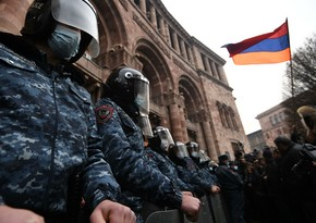 Rally held outside Armenian Parliament building