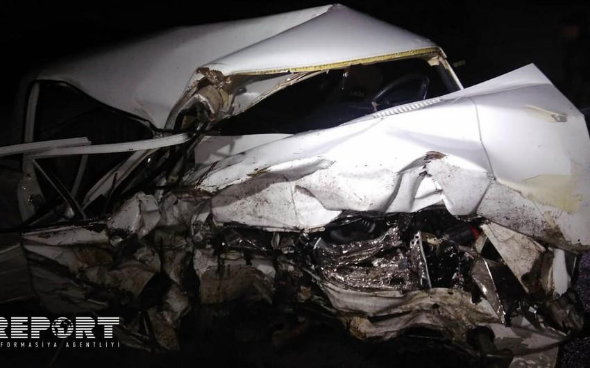 Şəmkirdə ağır yol qəzası: 1 ölü, 3 yaralı var - FOTO - YENİLƏNİB-2