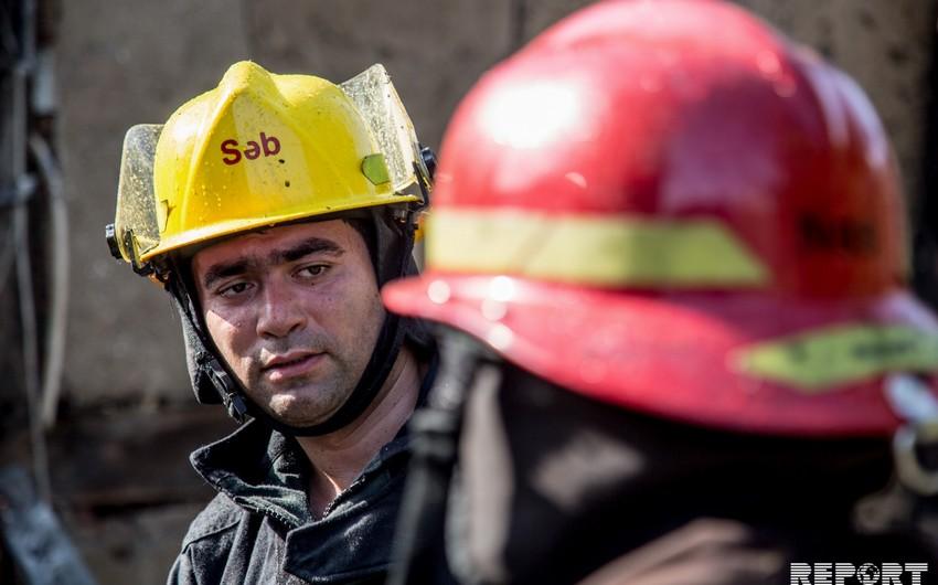 Qubada məktəb binasında baş verən yanğın söndürülüb - VİDEO - YENİLƏNİB-2
