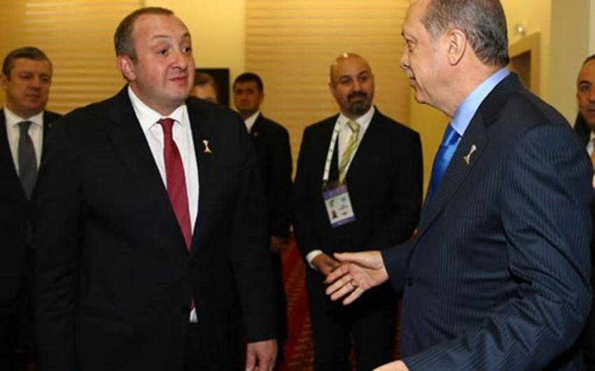 Türkiyə və Gürcüstan prezidentləri Bakı-Tiflis-Qars layihəsini müzakirə ediblər