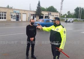 Kürdəmirdə yol polisi piyadalara qarşı reyd keçirdi