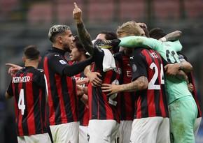 Серия А: Миланвышел на первое место