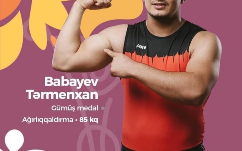 Azərbaycan ağırlıqqaldıranı olimpiadada gümüş medal qazanıb - FOTO
