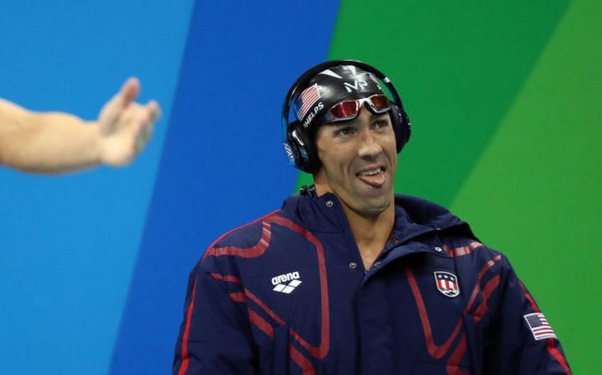 Amerikalı üzgüçü Maykl Felps iyirmi qat olimpiya çempionu olub
