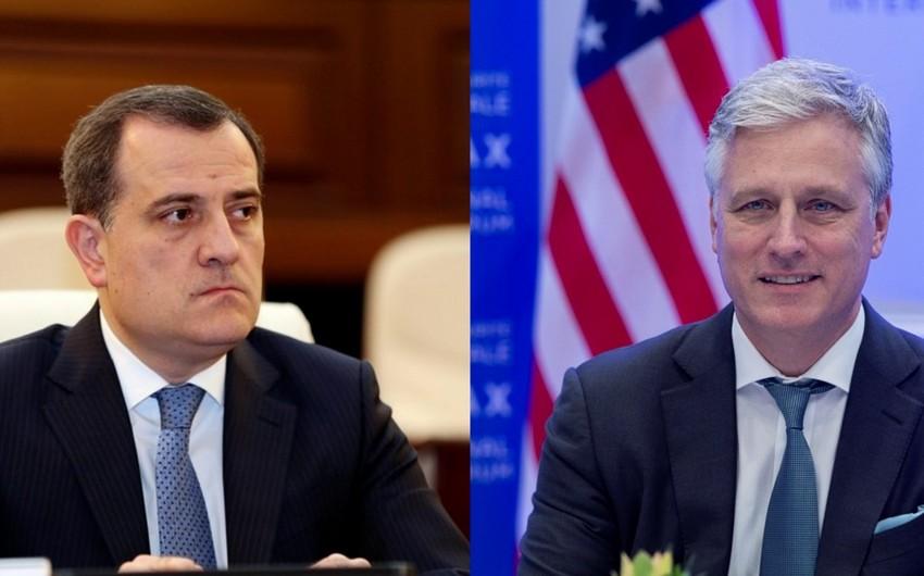 Ceyhun Bayramov ABŞ prezidentinin köməkçisi ilə görüşdü