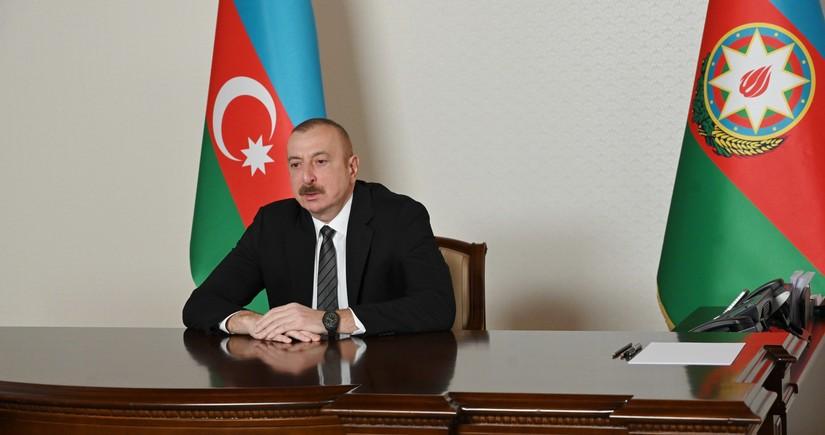 Президент Ильхам Алиев принял в видеоформате генсека ССТГ