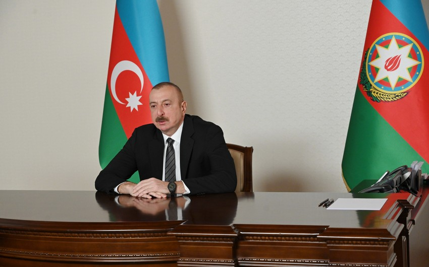 Ilham Aliyev receives Secretary General of Turkic Council in video format