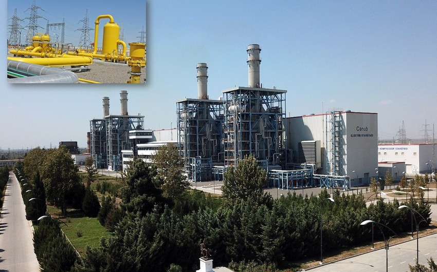"""""""Azərenerji"""" """"Cənub"""" Elektrik Stansiyasına qaz kəməri çəkib"""