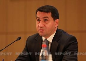 Hikmət Hacıyev: Ermənistan geniş əraziləri susuz qoymuşdu