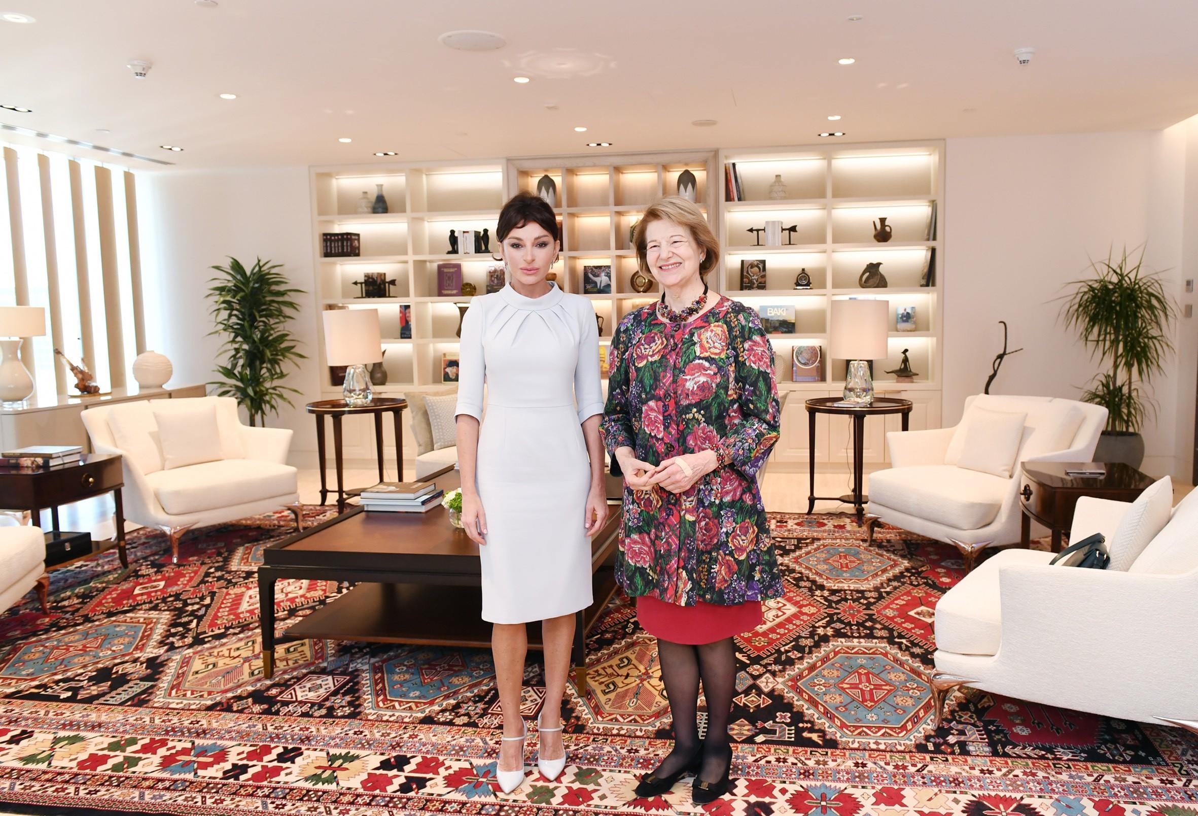 Первый вице-президент Мехрибан Алиева встретилась с торговым посланником премьера Великобритании по Азербайджану