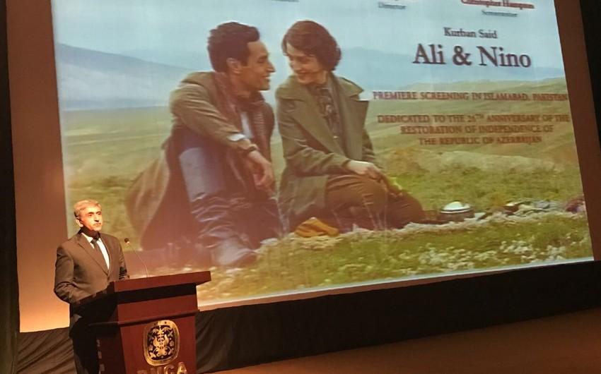 Pakistanda Əli və Nino filminin premyerası keçirilib