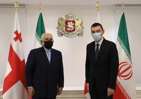 Gürcüstanın baş naziri İran XİN başçısı ilə regiondakı vəziyyəti müzakirə edib