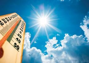 Sabah havanın temperaturu 44 dərəcəyədək yüksələcək