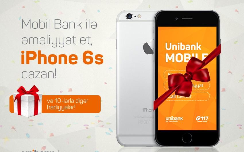 Unibank müştərilərinə pulsuz İphone 6S vəd edir