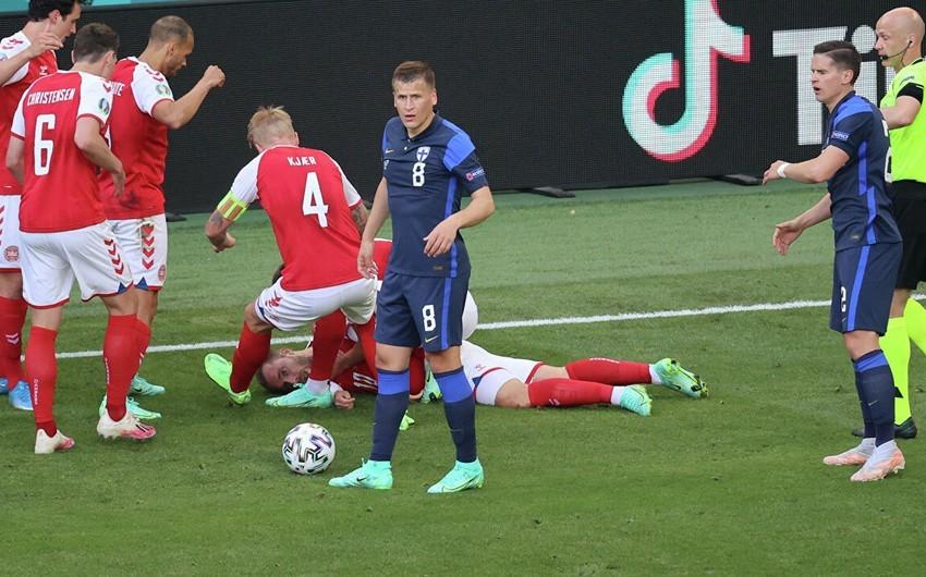 Евро-2020: Матч Бельгии и Дании будет прерван на 10-й минуте