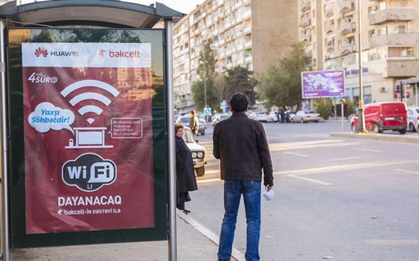 Bakıda pulsuz Wi-Fi xidməti təqdim edilən dayancaqların sayı artırılacaq