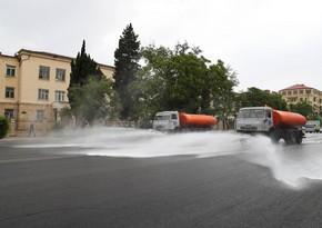 Завтра на улицах Баку проведут очередную дезинфекцию