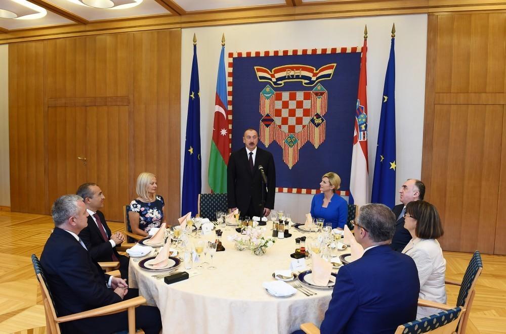 Завершился официальный визит Президента Азербайджана в Хорватию