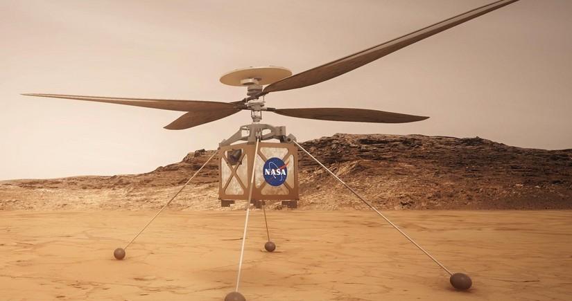 Marsda ilk tarixi uçuş olub