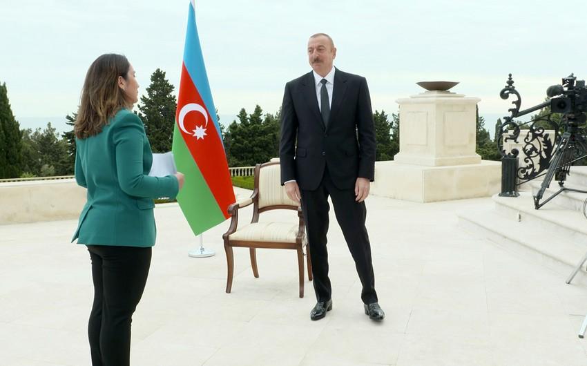 Президент Ильхам Алиев дал интервью телеканалу Al Jazeera