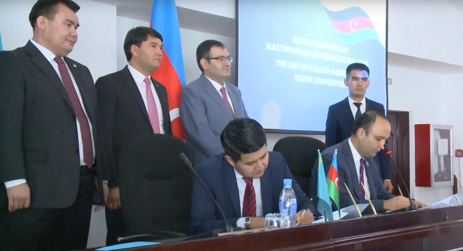 Молодежные организации Азербайджана и Казахстана подписали меморандум об обмене опытом, взаимодействии и сотрудничестве