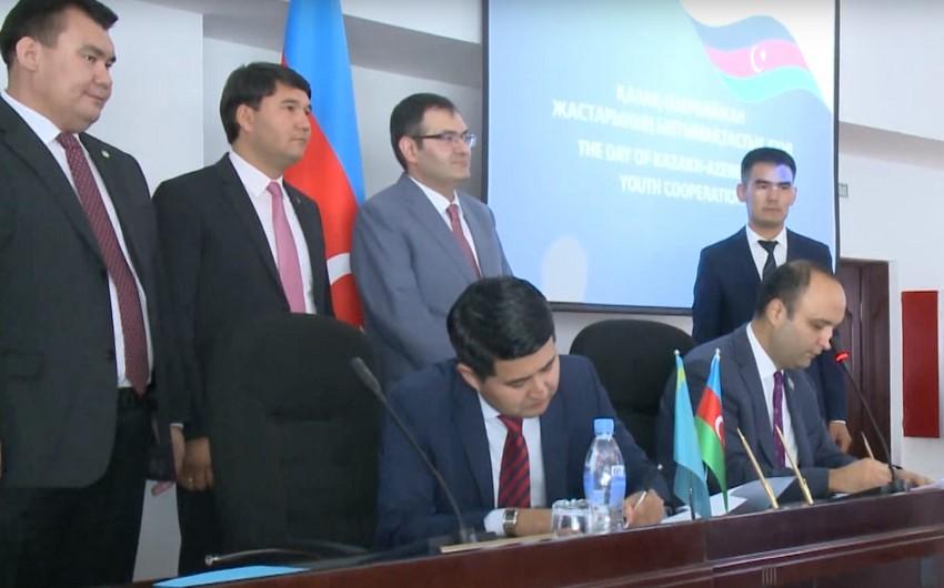 Azərbaycan və Qazaxıstanın gənclər təşkilatları memorandum imzalayıblar