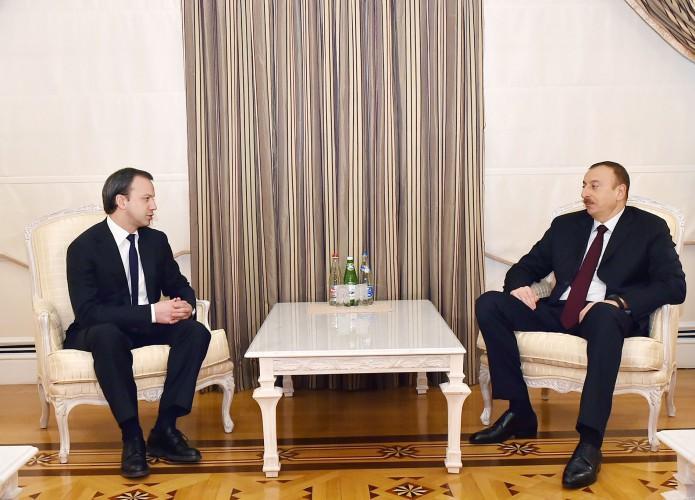 Президент Азербайджана принял заместителя председателя правительства России